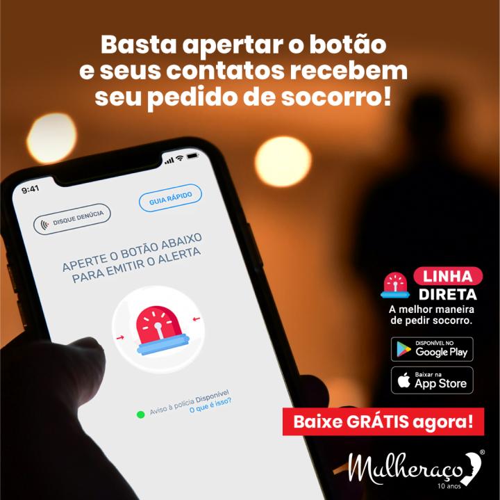 APP LINHA DIRETA EM PARCERIA COM MULHERAÇO