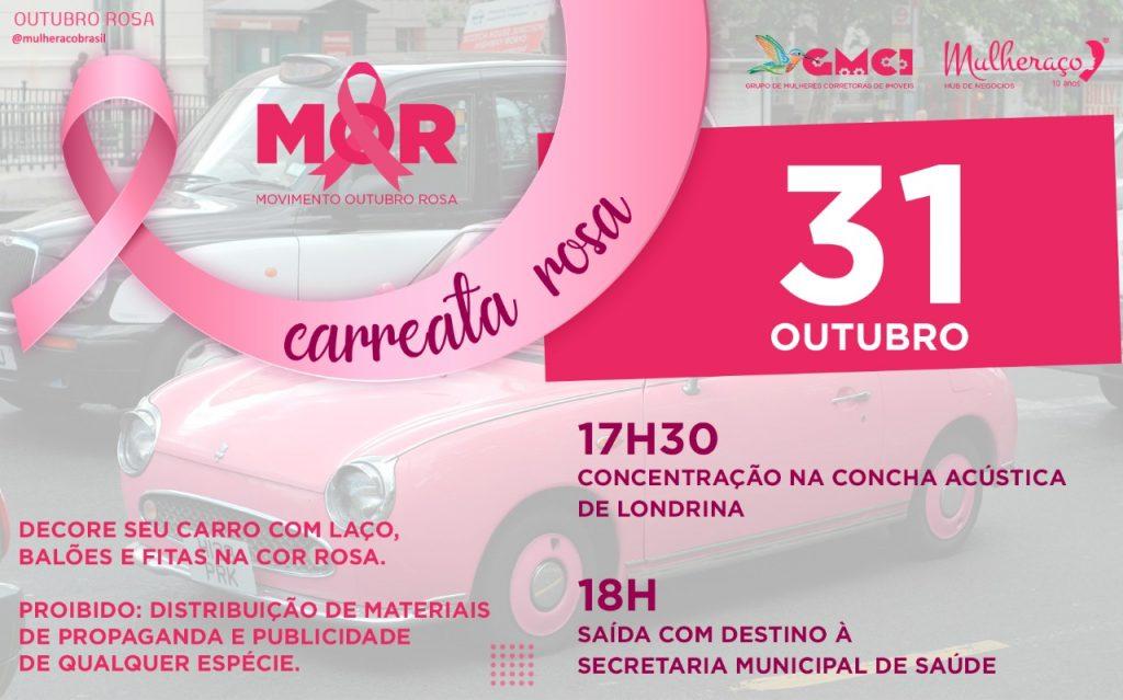 Carreata Convite - Outubro Rosa